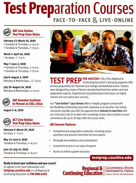 Test Prep Courses At Chico State